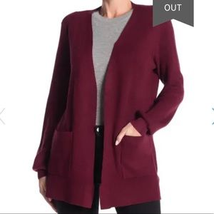 Devotion By Cyrus Open Front Ribbed Cardigan S NWT